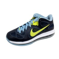 1d21e98b264 Nike Men s Lebron IX 9 Low Obsidian Blue Cyber Green 510811-401 Size 7