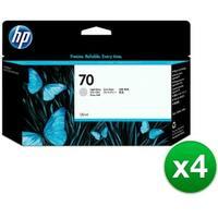 HP 70 130-ml Light Gray DesignJet Ink Cartridge (C9451A) (4-Pack)