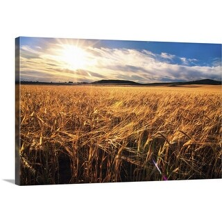 """Wheat field"" Canvas Wall Art"