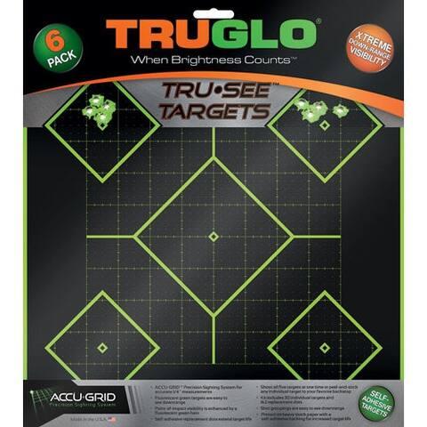Truglo tg14a6 truglo tru-see reactive target 5 daimond 6-pack