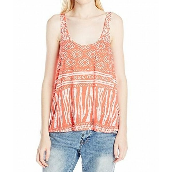 bad154e3bfa Shop Volcom NEW Orange Womens Size Small S Seeker Printed Tank Knit Top -  Free Shipping On Orders Over $45 - Overstock - 21015240