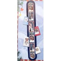 Club Pack of 144 Snowman Wall Hanging Christmas Card Holders - multi