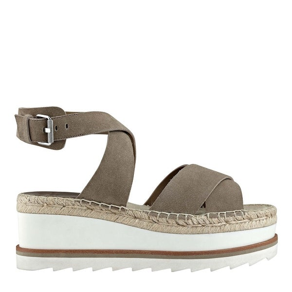 Marc Fisher Womens Greg Leather Open Toe Casual Platform Sandals