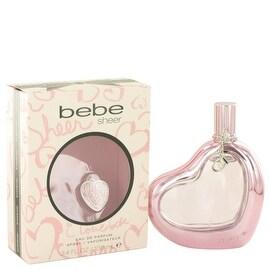 Eau De Parfum Spray 3.4 oz Bebe Sheer by Bebe - Women