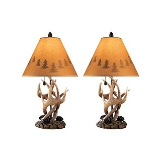Derek Brown Poly Table Lamp L316984 - Set of 2 Derek Brown Poly Table Lamp