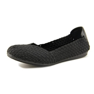Easy Spirit e360 Gibby Women Round Toe Canvas Black Flats