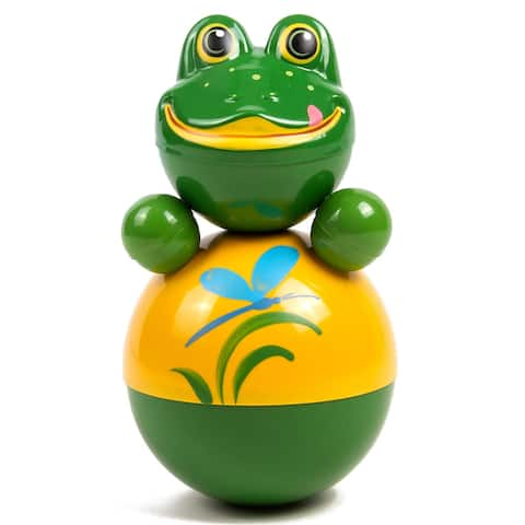 """Froggy Roly Poly 11"""" Russian Nevalyashka Tilting Toy Wobble Toy"""