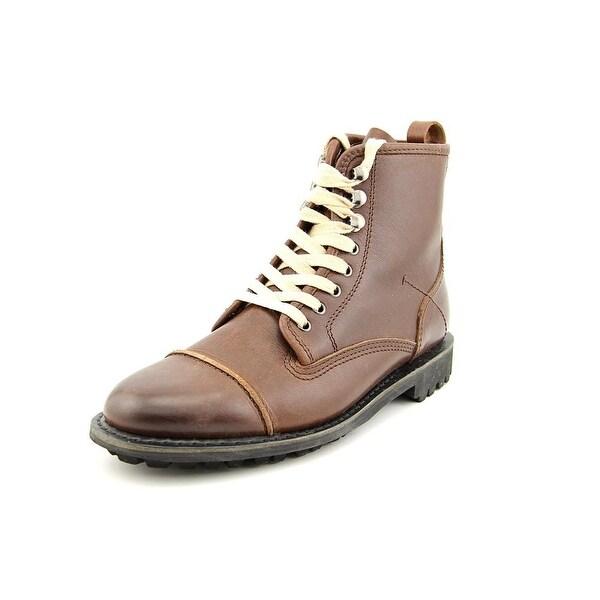 Blackstone Bark Men Round Toe Leather Brown Work Boot