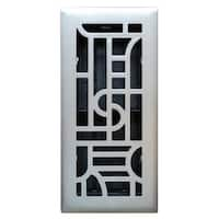 "Imperial RG3286 Art Deco Design Floor Register, 4"" x 10"""