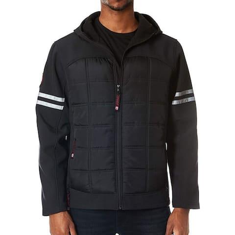 Canada Weather Gear Mens Jacket Black Size Medium M Full-Zip Hoodie