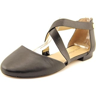 Julianne Hough Ananda Women Round Toe Leather Black Flats