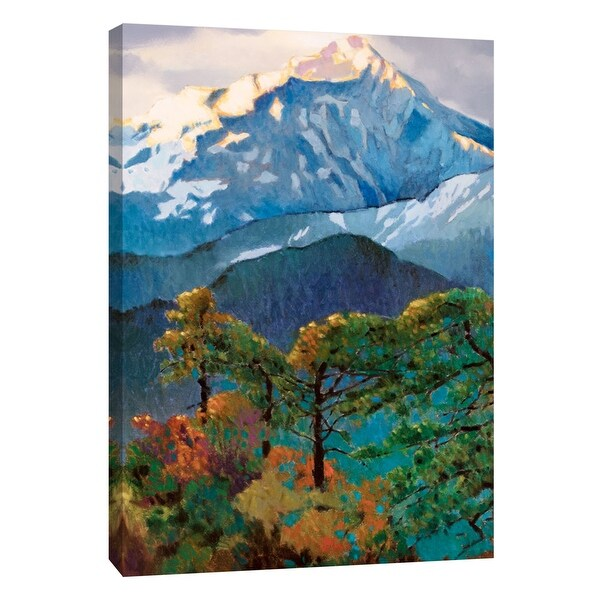 "PTM Images 9-105460 PTM Canvas Collection 10"" x 8"" - ""Eagle Tree"" Giclee Forests and Mountains Art Print on Canvas"