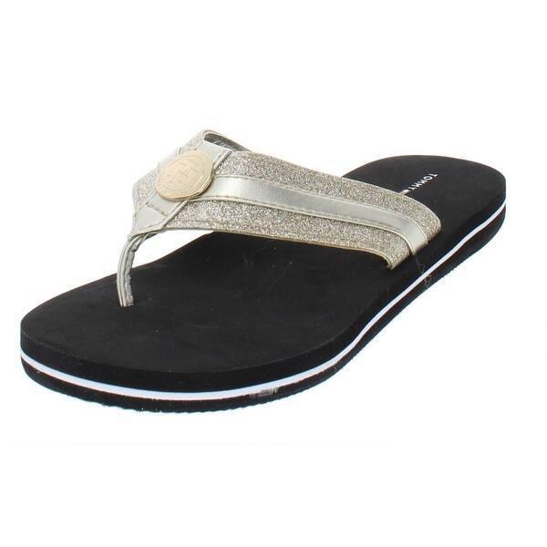 4bc39510 Shop Tommy Hilfiger Womens Capes Flip-Flops Glitter Thong - Free ...