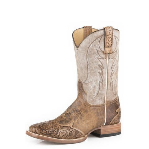 Stetson Western Boot Mens Diego Square Toe Wingtip