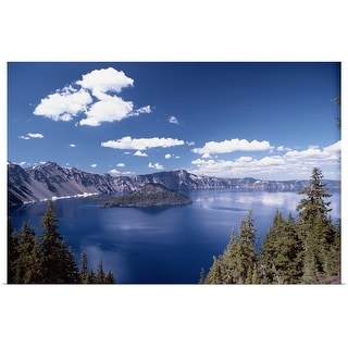 """Mountains around Lake, Oregon"" Poster Print"