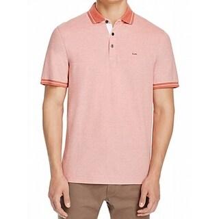 Michael Kors NEW Red Men's Size 2XL Polo Rugby Birdseye Knit Shirt