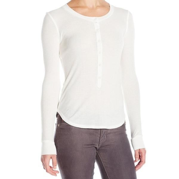 c2f7018b Shop David Lerner NEW White Women's Size Large L Madison Henley Tee ...