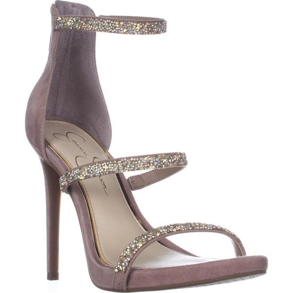 Jessica Simpson Rennia Ankle Strap Sandals, Dusty Mauve/Clear