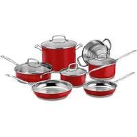 Cuisinart CSS-11MR 11-Piece Classic Cookware Set, Red