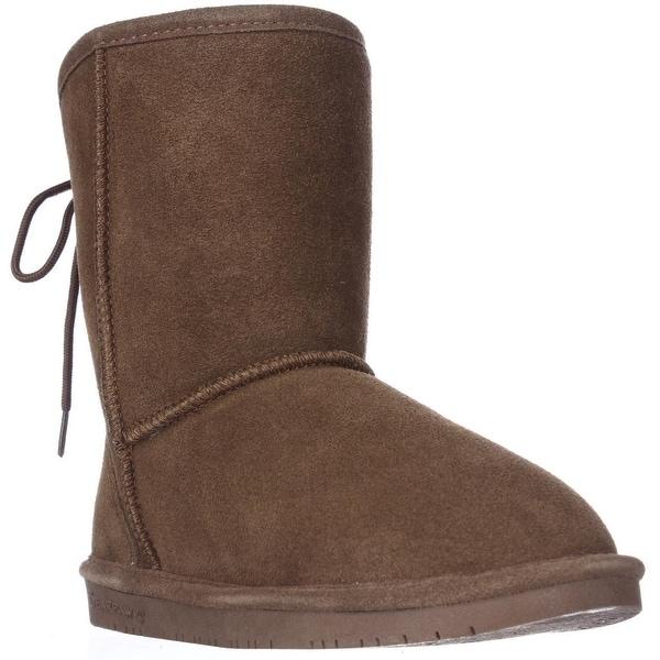 Bearpaw Elizabeth Short Back Lace Up Winter Boots, Hickory
