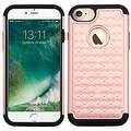 Insten Hard PC/ Silicone Dual Layer Hybrid Rubberized Matte Case Cover with Diamond For Apple iPhone 7 - Thumbnail 3