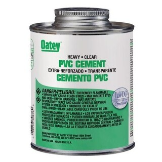 Oatey 30850 Heavy-Duty PVC Solvent Cement, 4 Oz, Clear