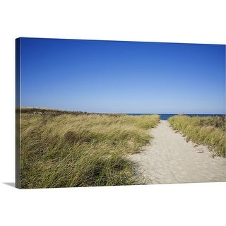 """Path to the beach"" Canvas Wall Art"