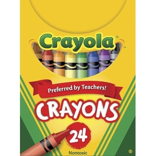 Crayola Non-Toxic Wax Crayon in Tuck Box, 5/16 X 3-5/8 in, Assorted Color, Pack of 24