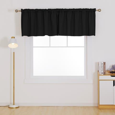 Deconovo Blackout Kitchen Valance Curtain Panel