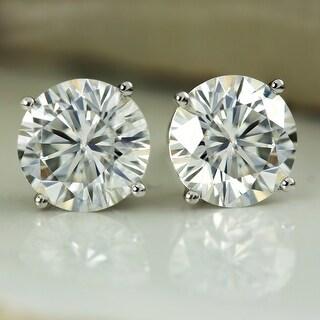 Link to Auriya 4ctw Round Moissanite Stud Earrings 18k Gold 4-Prong Basket - 8.2 mm, Screw-Backs - 8.2 mm, Screw-Backs Similar Items in Earrings