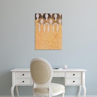Easy Art Prints Gustav Klimt's 'Choir of the Paradise Angels' Premium Canvas Art