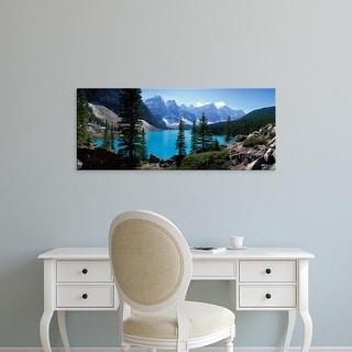 Easy Art Prints Panoramic Images's 'Moraine Lake Banff National Park Alberta Canada' Premium Canvas Art