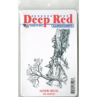 Deep Red Stamps Autumn Brook Rubber Cling Stamp - 4 x 3