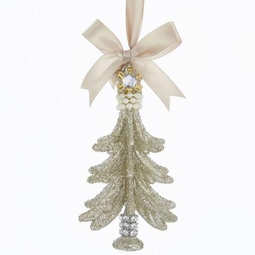 Vintage Glitter Tree Ornament
