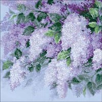 """17.75""""X17.75"""" 10 Count - Lilacs After The Rain Counted Cross Stitch Kit"""
