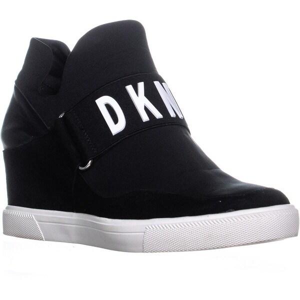 67df66ee02df Shop DKNY Cosmos Slip On High Top Sneakers