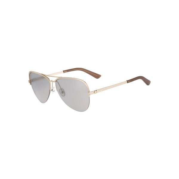 127e42ab1637 Calvin Klein Collection Womens Aviator Sunglasses Semi Rimless Oversized