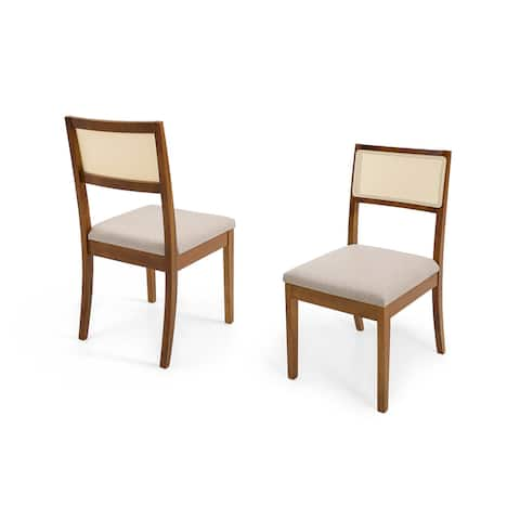 Dining Chair Herval Furniture, Cane-Back, Solid Wood, Set of 2