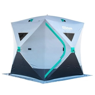 Elkton Outdoors Portable 3-Person Ice Fishing Tent With Ventilation Windows & Carry Pack