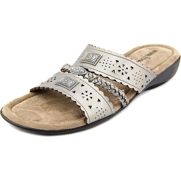 Minnetonka Gayle Women WW Open Toe Synthetic Bronze Slides Sandal