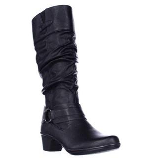 Easy Street Jayda Mid Calf Slouch Boots - Black