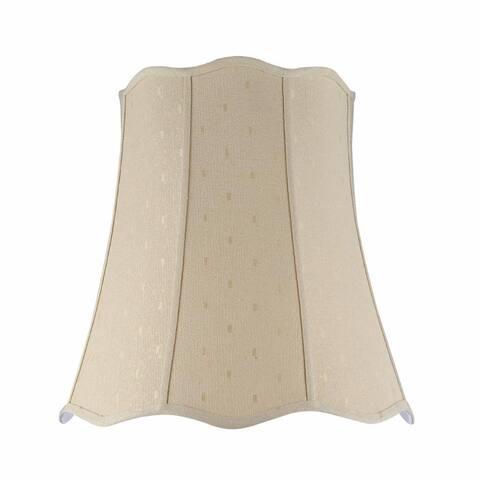 "Aspen Creative Scallop Bell Shape Spider Construction Lamp Shade in Beige (14"" x 20"" x 20"")"