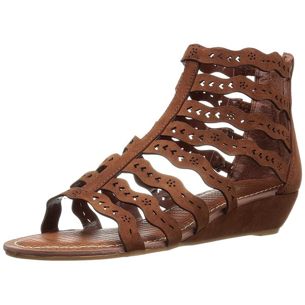 Carlos by Carlos Santana Womens kitt Leather Open Toe Casual Strappy Sandals