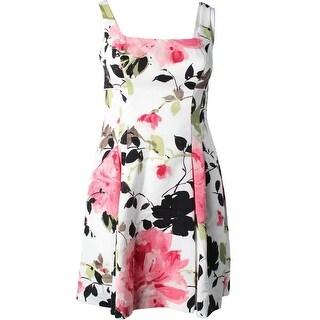 Lauren Ralph Lauren Womens Colette Casual Dress Floral Print Pleated