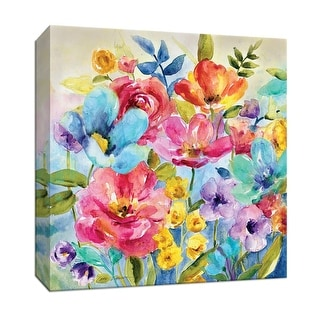 """PTM Images 9-146762  PTM Canvas Collection 12"""" x 12"""" - """"Garden Potpourri I"""" Giclee Flowers Art Print on Canvas"""
