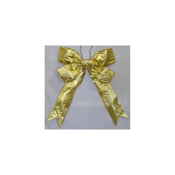 """Christmas at Winterland WL-BOW-48-GO 48"""" Gold Holiday Bow - N/A"""