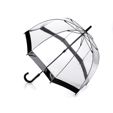 Unisex Adult Her Majesty's Transparent Vinyl Dome Umbrella - One size