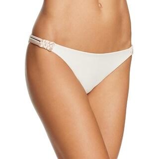 Tularosa Womens Solid Split Strap Swim Bottom Separates - L