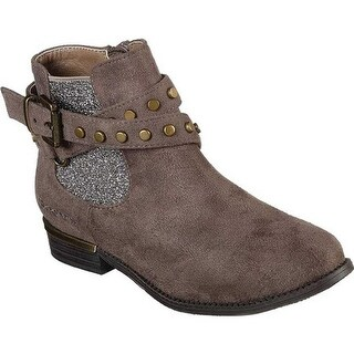 Skechers Girls' Mad Sass Sparkle Bandit Ankle Boot Taupe