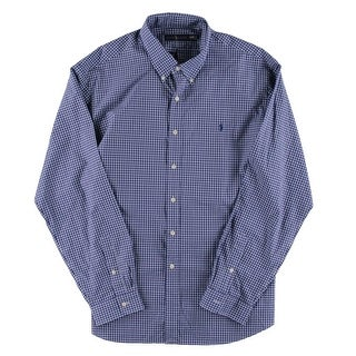 Polo Ralph Lauren Mens Big & Tall Button-Down Shirt Cotton Plaid - 3Xl